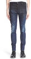 DSQUARED2 Men's 'Cool Guy' Distressed Degrade Print Slim Fit Jeans