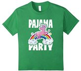 Women's Pajama Party Retro Cute Unicorn Rainbow Bed Time PJ T-Shirt XL