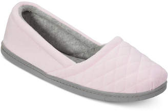 Dearfoams Quilted Microfiber Velour Slippers, Online Only