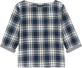 Madewell Herald Curtis plaid cotton-flannel top