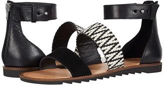 Frye Port 2 Band Sandal (Peach Multi Suede/Multi Arrow Webbing/Waxed Leather) Women's Shoes
