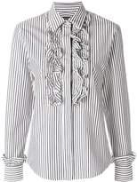 ALEXACHUNG Alexa Chung striped ruffled shirt