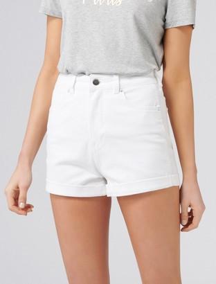 Forever New Florida High Rise Denim Shorts - White - 4