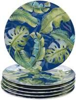 Certified International Tropicana 6-piece Melamine Dinner Plate Set