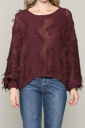 Alb Anchorage Fringe Pullover Sweater