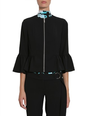 Michael By Michael Kors Ruffled Cady Jacket