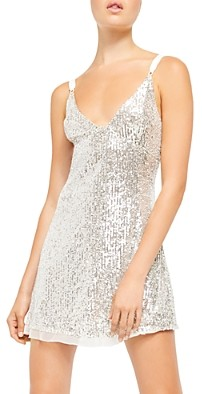 Free People Gold Rush Sequined Mini Dress