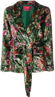 F.R.S For Restless Sleepers Floral Velvet Blazer