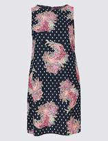 Marks and Spencer Linen Blend Paisley Print Tunic Dress