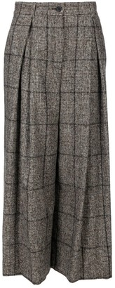 Dolce & Gabbana Checked Wide-Leg Culottes