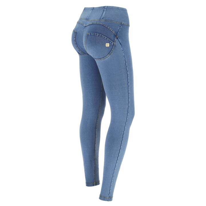 Freddy WR.UP high-Rise Skinny-fit Trousers in Denim-Effect Fabric - Clear Jeans-Yellow Seams - Extra Small