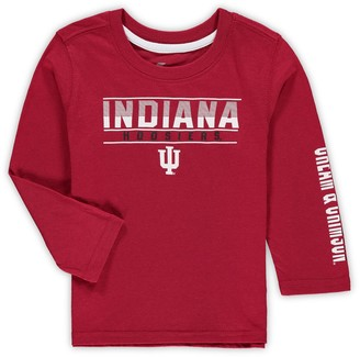 Colosseum Toddler Crimson Indiana Hoosiers Flackless Two-Hit Long Sleeve T-Shirt