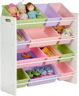 Honey-Can-Do 12 Bin Kids Toy Storage Organizer- White