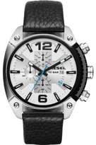 Diesel Men's Black Leather Band Steel Case Quartz Dial Analog Watch DZ4413
