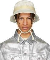 Acne Studios Blå Konst Off-White Sun Bucket Hat