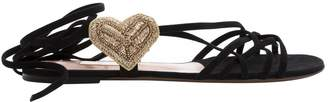 L'Autre Chose Black Suede Sandals