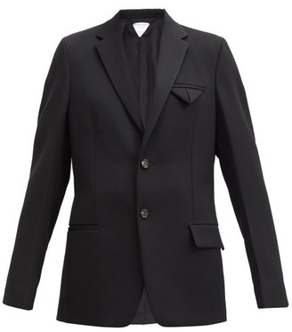 Bottega Veneta Single-breasted Grain-de-poudre Wool Jacket - Black