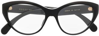 Gucci Cat-Eye Logo-Embellished Glasses