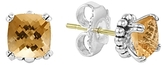 Lagos Sterling Silver Prism Citrine Stud Earrings