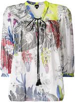 Just Cavalli front-tie blouse