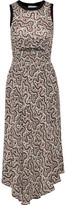 A.L.C. Sandra Cutout Floral-Print Silk Crepe De Chine Midi Dress