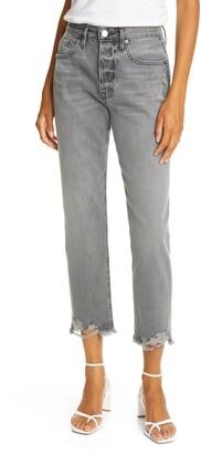 Frame Le Original Chewed Hem High Waist Ankle Jeans