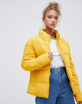 Blend She Dales tube quilted short jacket-Yellow