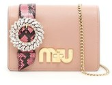 Miu Miu Women's Pink Leather Shoulder Bag.