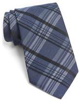 John Varvatos Men's Plaid Silk Blend Tie