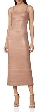 Herve Leger Banded Crystal Embellished Midi Dress