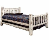 Antigo Laser Engraved Moose Standard Bed Millwood Pines Size: Full