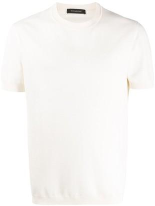 Ermenegildo Zegna rib detail T-shirt
