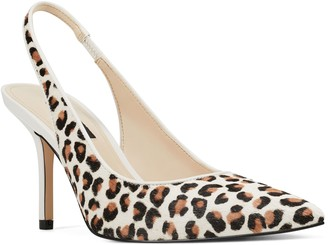 Nine West Haircalf Pointed-Toe Slingback Pumps- Holly