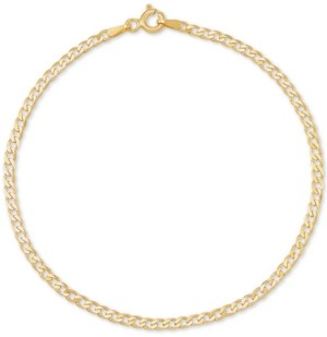 Italian Gold Curb Link Chain Bracelet in 14k Gold