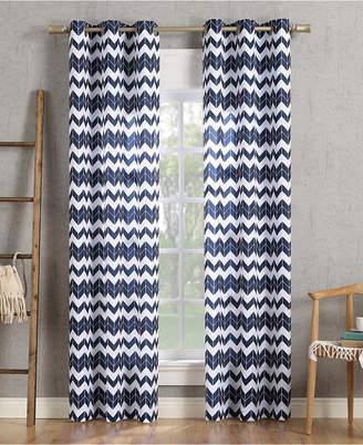"Lichtenberg No. 918 Kai Chevron Semi-Sheer Grommet Curtain Panel, 40"" W x 84"" L"
