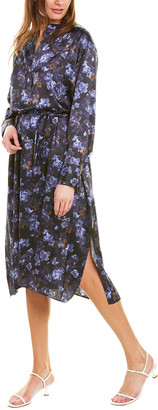 Vince Plumeria Blooms V-Neck Dress
