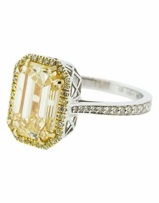 Marissa Diamonds Yellow Emerald Cut Diamond Ring