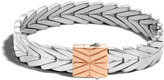 John Hardy Modern Chain 11MM Bracelet in Silver and 18K Rose Gold