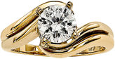 MODERN BRIDE 1/2 CT. Diamond Two-Tone Solitaire Ring