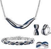 JCPenney FINE JEWELRY 1/5 CT. T.W. White & Color-Enhanced Black & Blue Diamond 4-pc. Jewelry Set