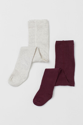 H&M 2-pack Tights - Red