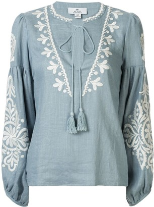 We Are Kindred Positano embroidered blouse