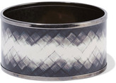 Bottega Veneta Ruthenium-plated Enamel Bangle - Gunmetal