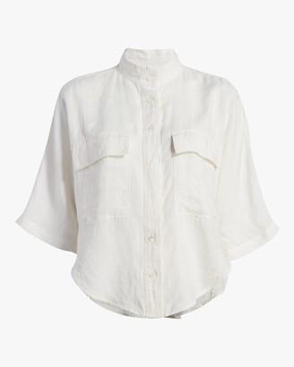 Frame Short-Sleeve Clean Safari Shirt