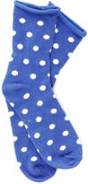 SALE Plush Polka Dot Rolled Fleece Socks