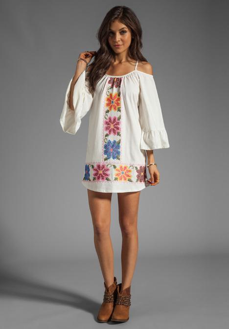 VAVA by Joy Han Anna Embroidered Dress