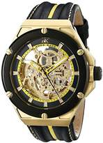 Adee Kaye Men's AK2240-MG/YW Le Gear Analog Display Automatic Self Wind Yellow Watch