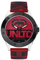 Ecko Unlimited Red Silicone Print Strap Watch