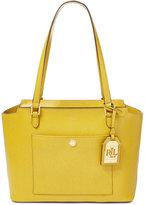 Lauren Ralph Lauren Newbury Modern Pocket Saffiano Shopper