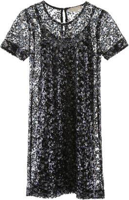 MICHAEL Michael Kors SEQUINED DRESS XS Blue, Black, Purple